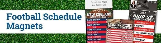 Football Schedule Magnets