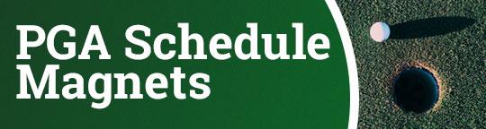 PGA Schedule Magnets