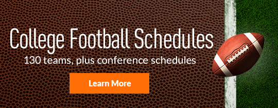 College Football Schedules! 130 teams, plus conference schedules. Learn more