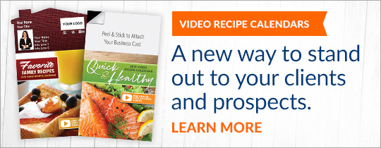 Recipe calendars with videos to connect with your clients & prospects