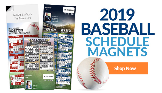 2018 Baseball Schedule Magnets. Shop Now