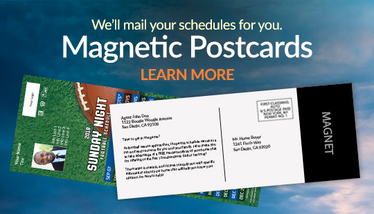 Magnetic Postcards | We'll mail your schedules for you