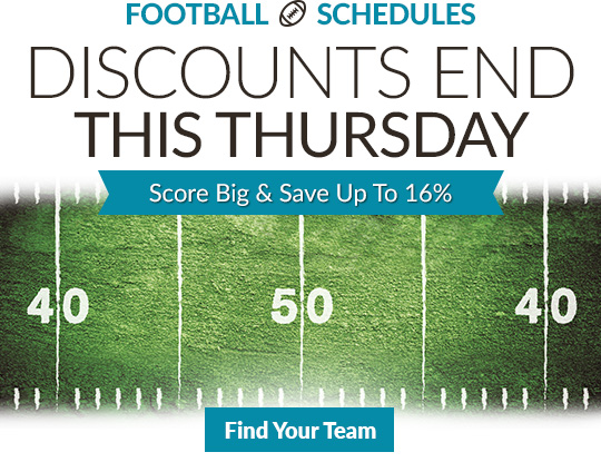 Football Schedule Magnets. Early Bird Sale Ends This Thursday. Shop Now.
