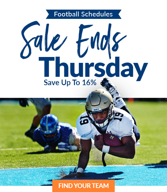 Football Schedule Sale Ends Thursday