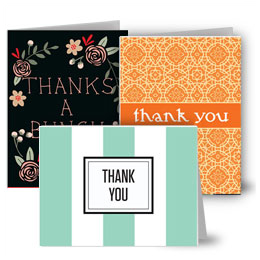 Thanks note card sets