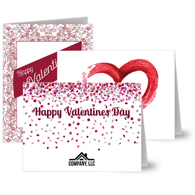 Valentine's Day Logo Cards