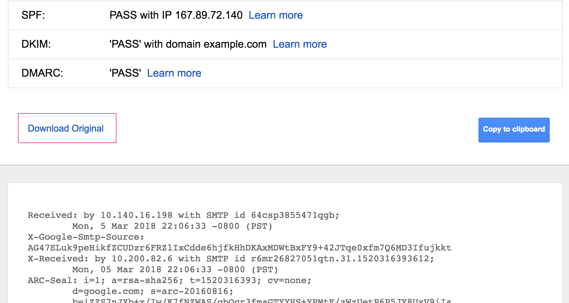 huge selection of 8785e a3bd2 Forward the original message HTML