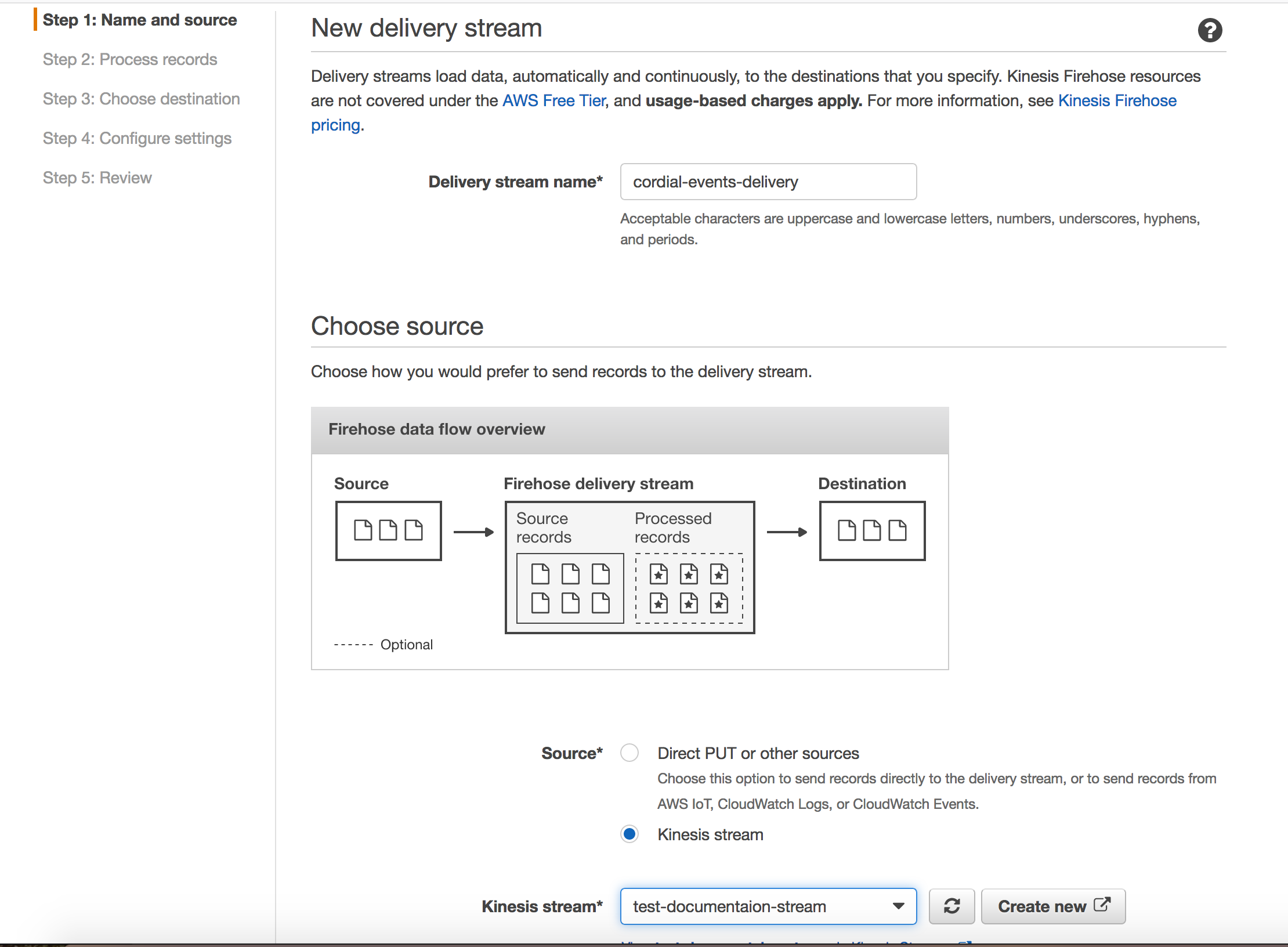 Configuring an Amazon Kinesis Stream – Cordial Knowledge Base