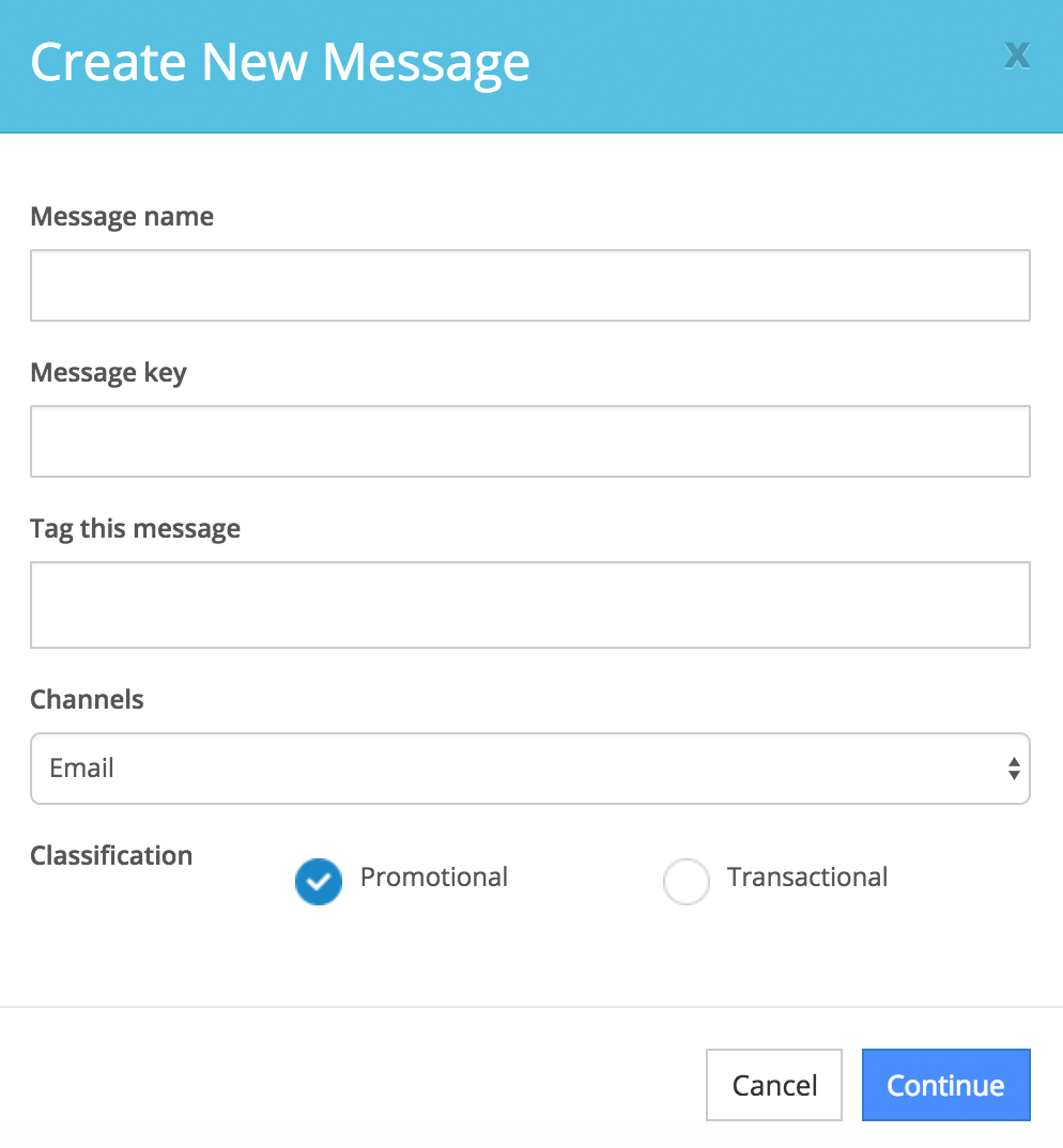 fill out the fields to create a new automated message