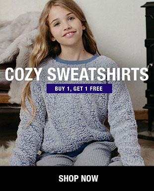 Shop Girls' Cozy Sweatshirts