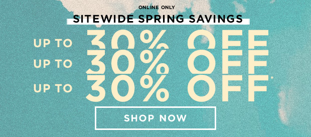 Shop 30% Off Sitewide