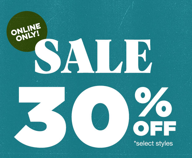 WINTER SALE 30% OFF - Shop Now