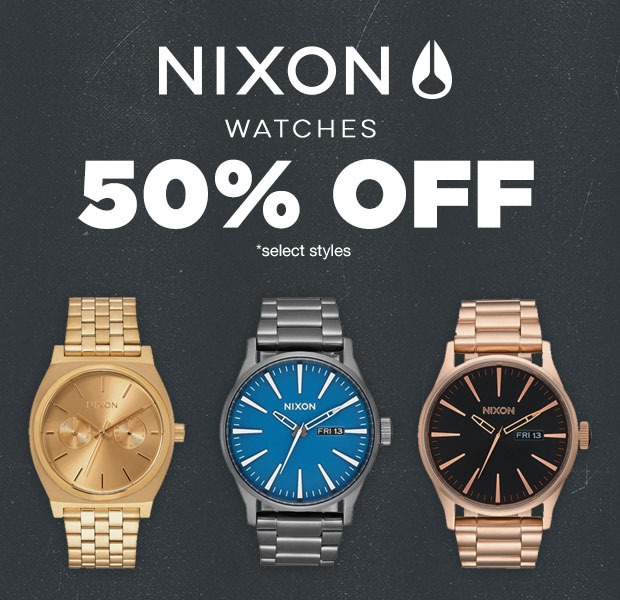50% Nixon Watches