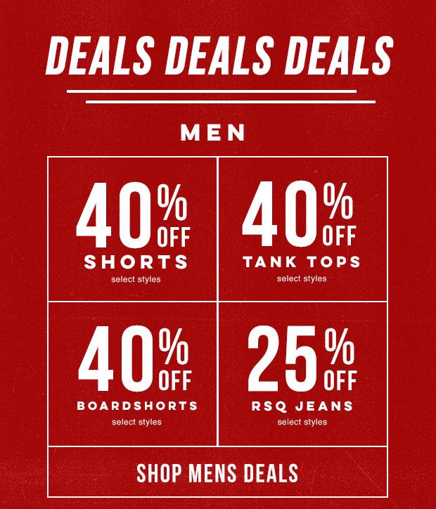 Shop Men's Deals