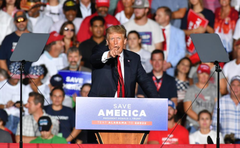 Trump spoke last month at a major rally in Alabama