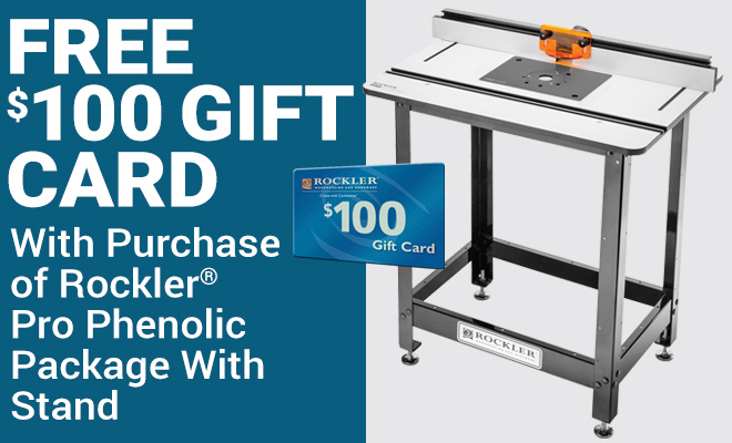 Free $100 Gift Card with Purchase of Roclker Pro Phenolic Package with Stand